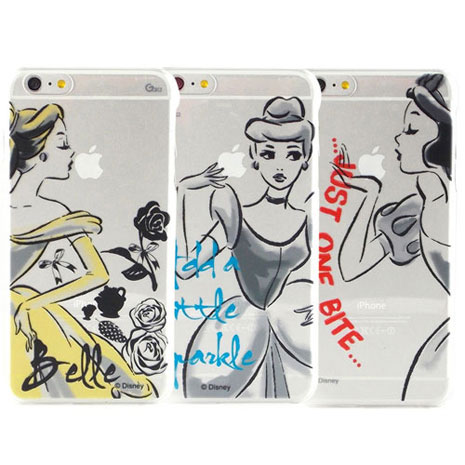 Disney iPhone 6s Plus/6 Plus 彩繪公主系列透明保護硬殼-水墨風灰姑娘