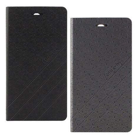 Miravivi InFocus M511 幾何紋薄型可立式筆記本皮套時尚黑