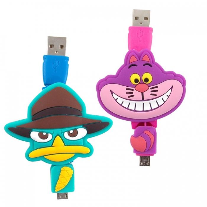 Disney Micro USB 造型伸縮傳輸線-泰瑞/史迪奇泰瑞