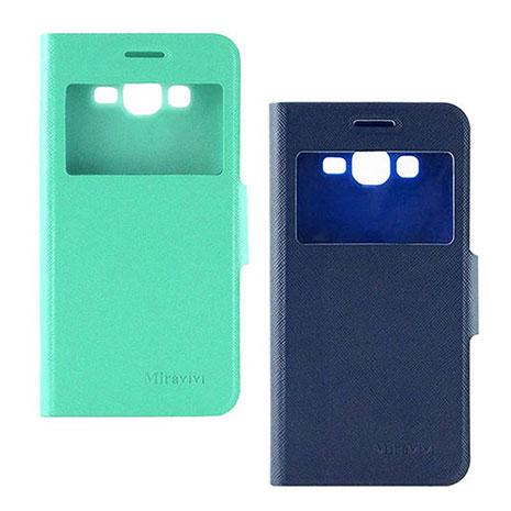 Miravivi SAMSUNG GALAXY GRAND Prime大奇機(G530Y) 時尚簡約透視視窗可立筆記本皮套爵士藍