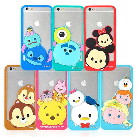 Disney iPhone 6s Plus/6 Plus TSUM TSUM 可愛造型立體矽膠邊框軟套