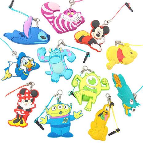 Disney 可愛全身造型耳機防塵塞吊飾捲線器毛怪