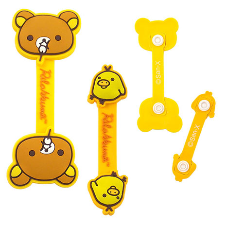 Rilakkuma 拉拉熊/懶懶熊 可愛造型捲線器/集線器-吃丸子X小雞