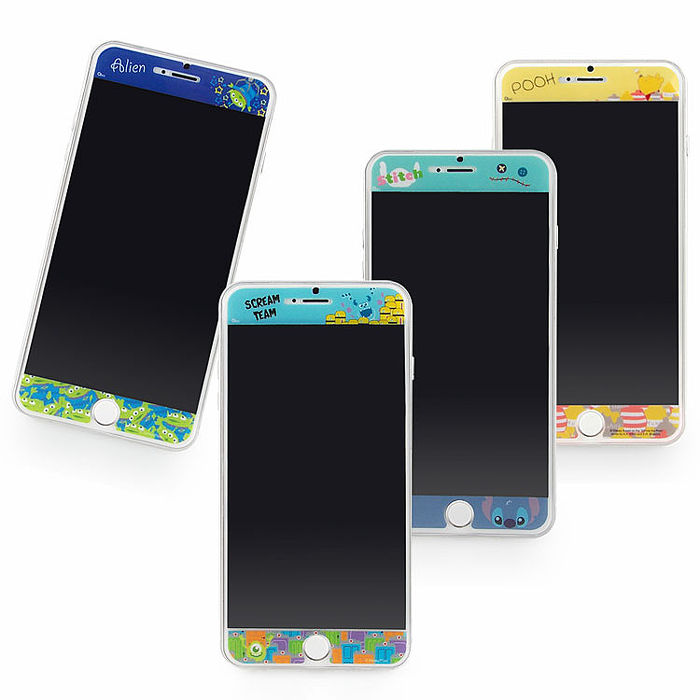 Disney iPhone6/6s Plus 彩繪保護貼-俏皮系列-手機平板配件-myfone購物