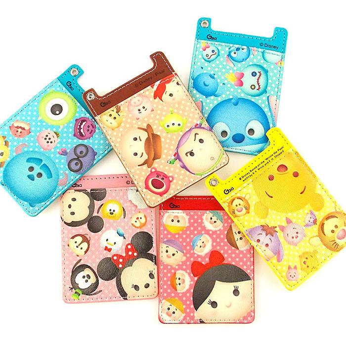Disney TSUM TSUM可愛人物皮革卡夾手機背貼-手機平板配件-myfone購物