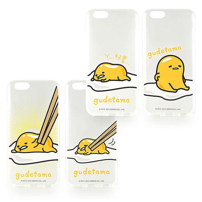 Sanrio iPhone 6s/6 Plus 蛋黃哥彩繪透明保護軟套-餐桌系列抓屁屁