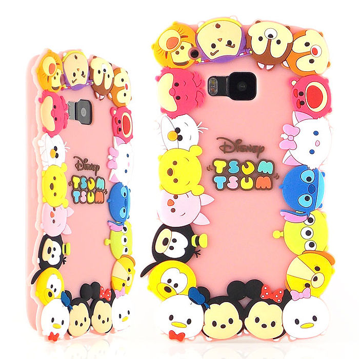 Disney HTC One M9 TSUM TSUM 可愛2D立體保護套-大集合