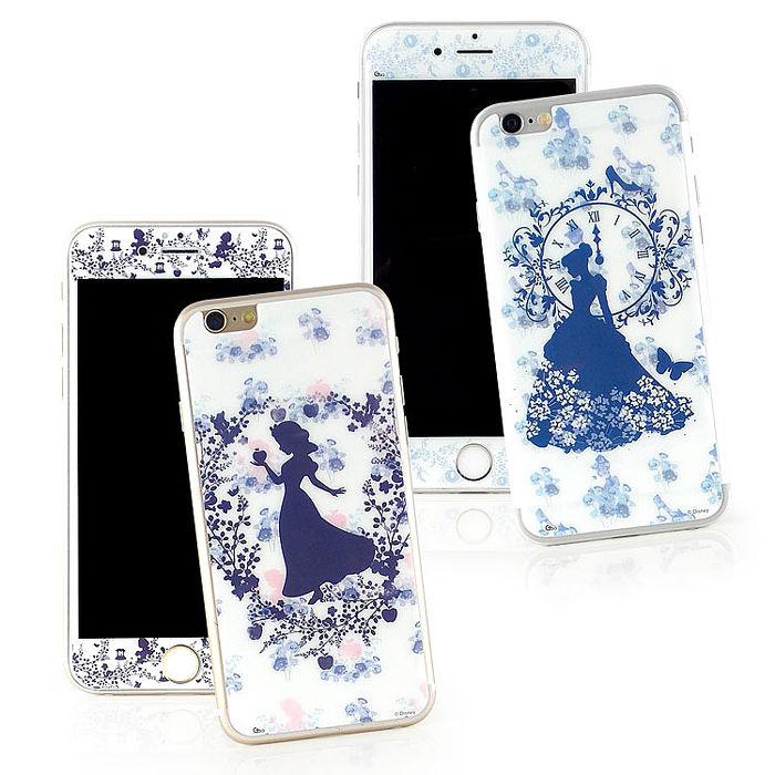 Disney iPhone6/6s 強化玻璃彩繪保護貼-公主白雪公主