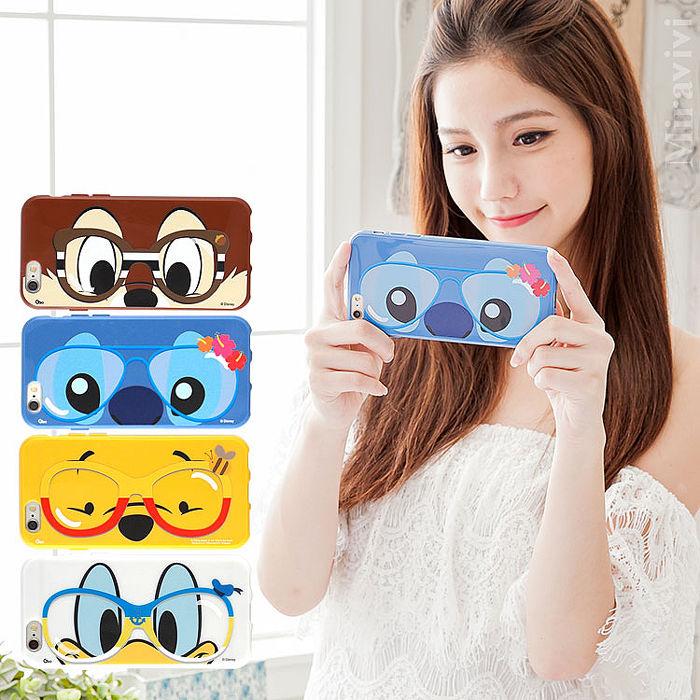 Disney iPhone 6s Plus/6 Plus 時尚眼鏡款保護套維尼