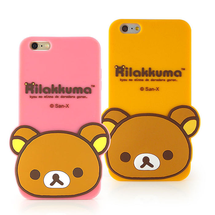 Rilakkuma 拉拉熊/懶懶熊 iPhone 6s Plus/6 Plus 可愛立體造型保護套-大頭黃