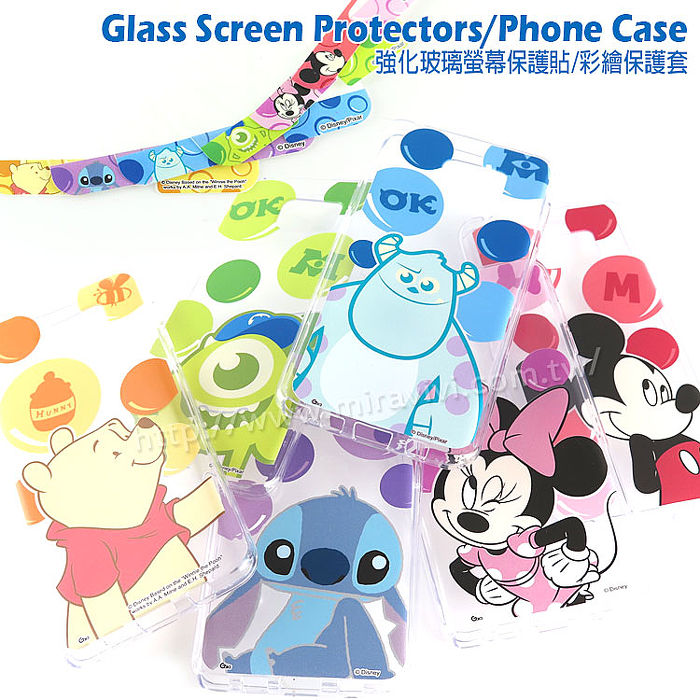 Disney Samsung Galaxy Note 5 泡泡系列玻璃保護貼+彩繪保護軟套-手機平板配件-myfone購物