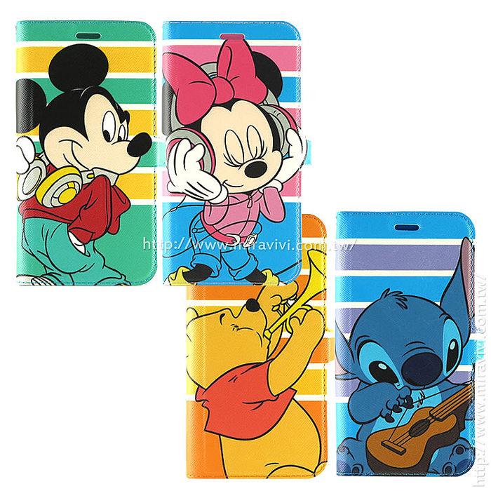 Disney ASUS ZenFone 2 Laser 5吋?(ZE500KL) 音樂人物隱磁側掀皮套-手機平板配件-myfone購物