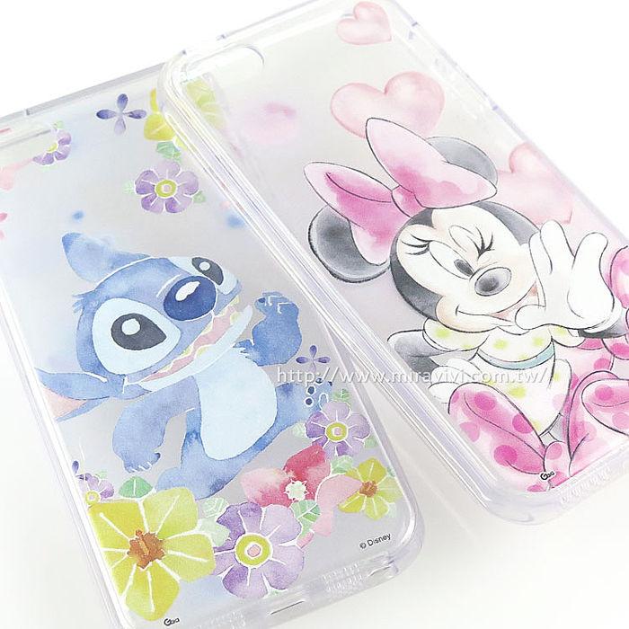 Disney iPhone SE/i5/i5s 可愛透明保護軟套-水彩風-手機平板配件-myfone購物