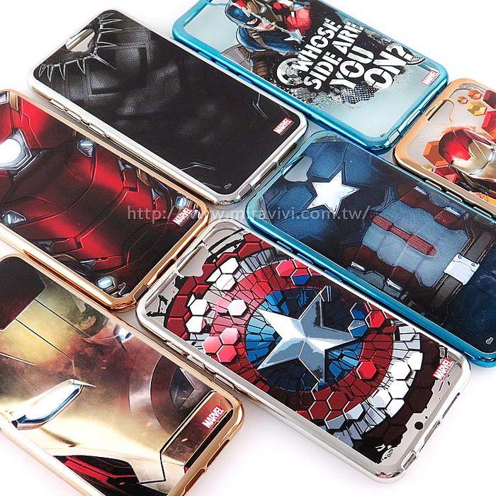 MARVEL HTC One A9復仇者聯盟時尚電鍍保護軟套鋼鐵衣
