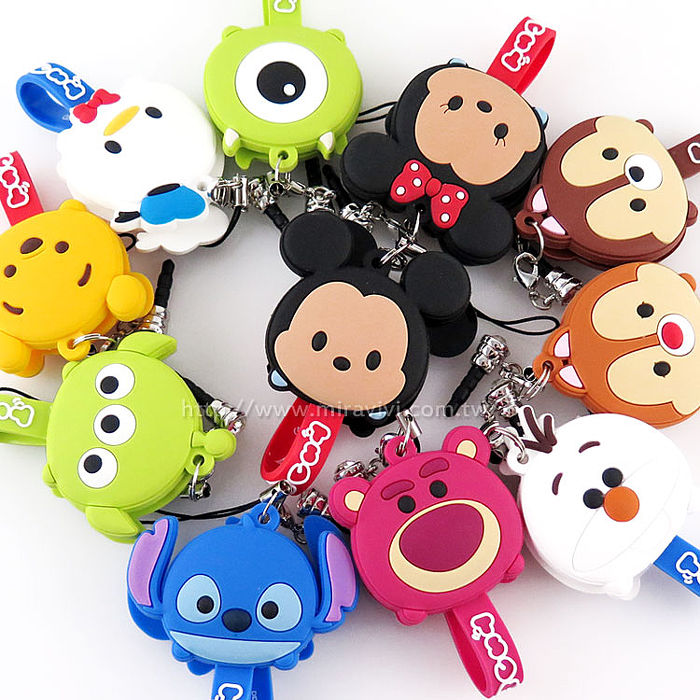 Disney TSUM TSUM 可愛造型耳機防塵塞吊飾捲線器/集線器唐老鴨