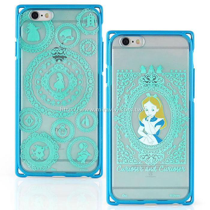 【Disney 】iPhone 6 Plus/6s Plus 專業耐衝擊aprolink雙料保護殼-愛麗絲圖騰