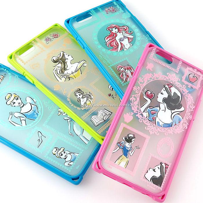 【Disney 】iPhone 6 / 6s 專業耐衝擊aprolink雙料保護殼-畫框系列貝兒