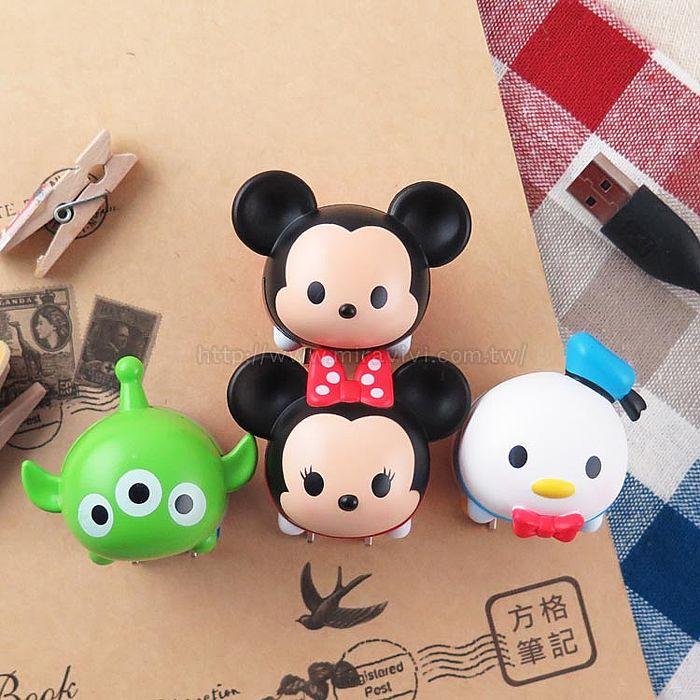 【Disney】迪士尼TSUM TSUM造型USB充電插頭 充電頭 旅充