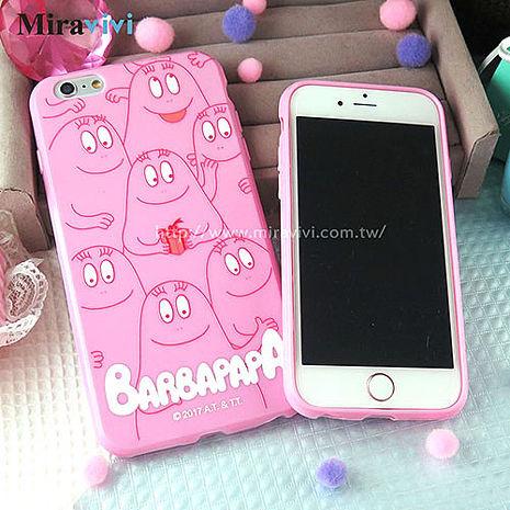 BARBAPAPA泡泡先生iPhone 6/6S Plus(5.5吋)粉色空壓保護套