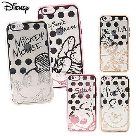 Disney迪士尼iPhone 6/6S Plus(5.5吋)時尚質感電鍍保護套-點點系列米妮