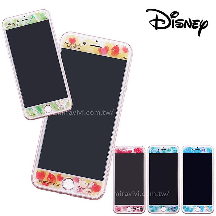 Disney迪士尼iPhone6/6s/7/8(4.7)共用 水彩渲染9H強化玻璃保護貼 經典小仙子