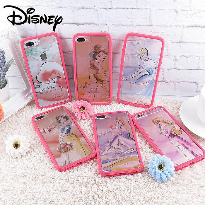 迪士尼│宙斯鎧甲 iPhone 6/6s/7/8 Plus(5.5吋)防摔殼 水彩公主長髮公主