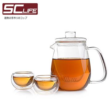 【SC life】三件式茶海壺品茗杯(一壺兩杯)