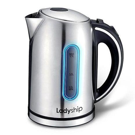 ├ Ladyship ┤貴夫人 1.7L LED 不鏽鋼快煮壺 KM-318