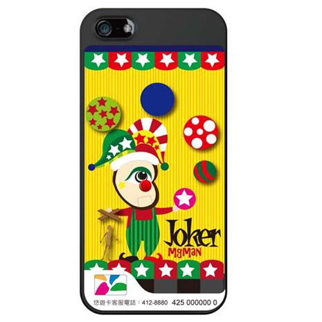 MgMan iPhone5 悠遊卡手機保護殼(附螢幕貼+機背貼+Home鍵貼) Mg小丑