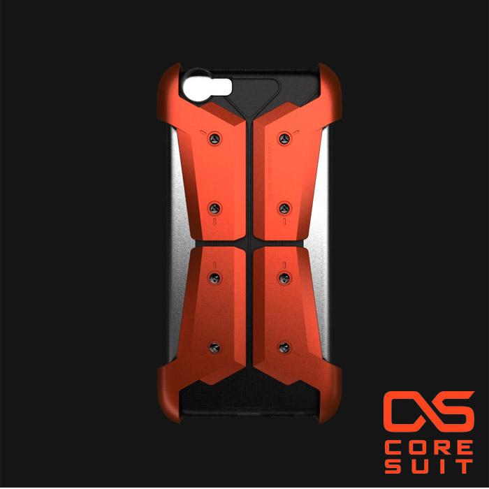 CORESUIT ARMOR 裝甲風格飾版+iPhone 6 4.7吋手機殼-橘紅