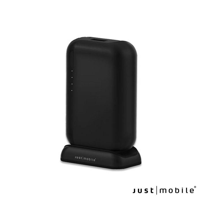 Just Mobile TopGum 6000mAh 3.4A鋁合金行動電源含充電座-黑色