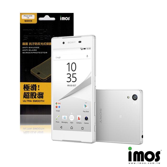 iMos-Touch Stream Sony Xperia Z5 抗污防反光霧面保護貼(正面)