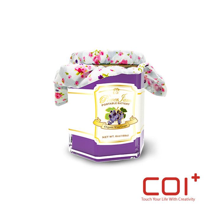 【COI+】PowerJam 果醬罐 6000mAh行動電源 -葡萄