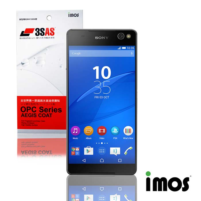 iMos 3SAS SONY Xperia C5 Ultra超抗潑水疏油效果保護貼