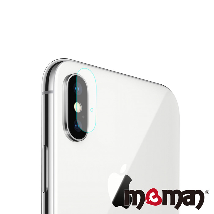 Mgman iPhone X 鋼化玻璃鏡頭保護貼-單孔