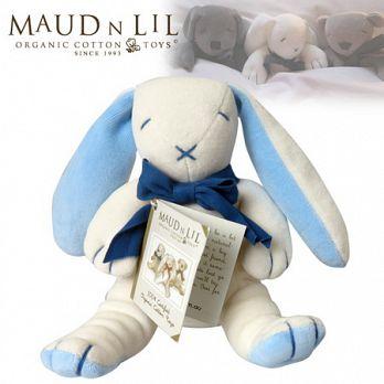 【曼德立歐Maud N Lil】有機棉安撫娃娃/柔軟小兔子(限量藍)
