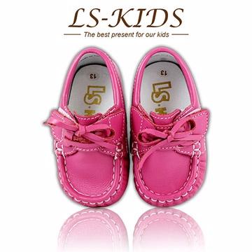 【LS-KIDS】 手工精緻學步鞋-寶寶雷根鞋系列-櫻桃紅13號