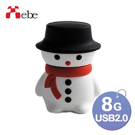 Xebe集比 8G 雪人造型USB隨身碟-3C電腦週邊-myfone購物