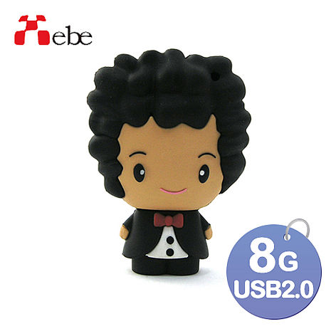 Xebe集比 8G 結婚小禮物 新郎造型USB隨身碟